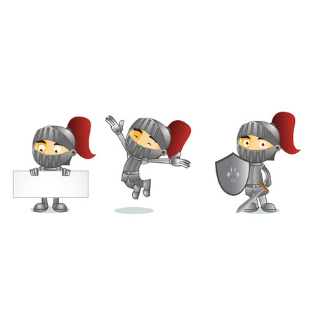 Knight Mascot Ilustração