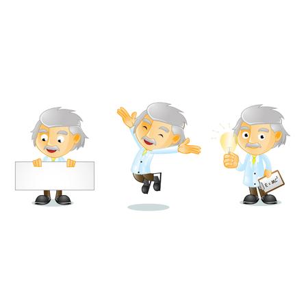 mr: Mr Genius Mascot  Illustration