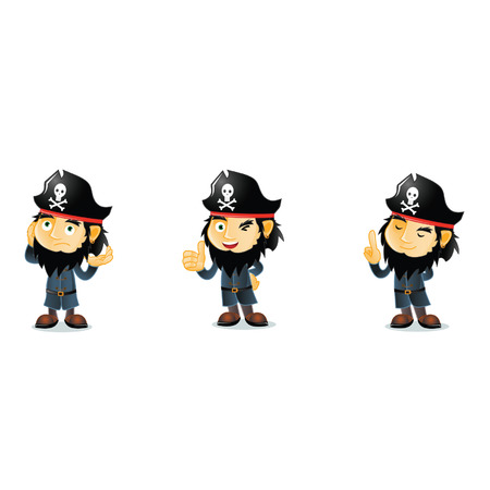 wooden shoes: Pirates Mascot Illustration