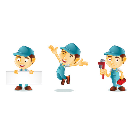Plumber Mascot Ilustração
