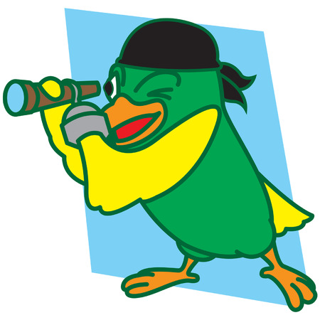 Pirates Bird Illustration