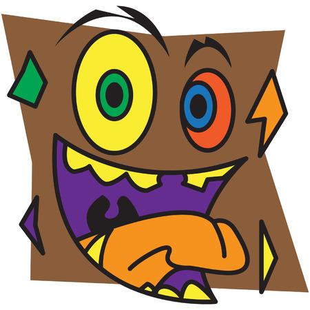 brown: Brown Monster Illustration