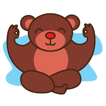 Bear Yoga Stock Illustratie