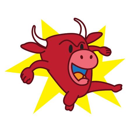 怒っている牛します。