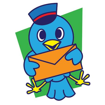 admirer: Postman Bird Illustration