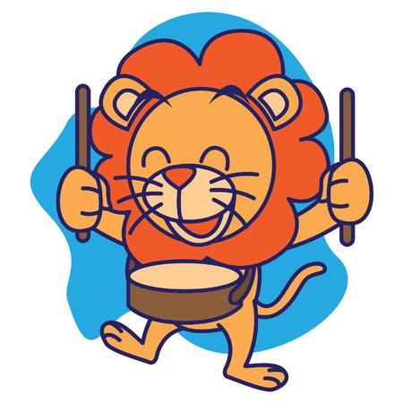 undomesticated: Drum Band Lion