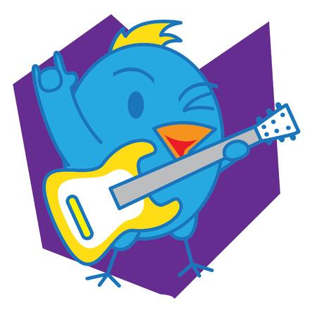 cartooning: Blue Bird