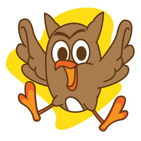 brown: Brown Owl Illustration