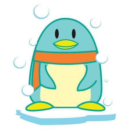 Frozen Penguin Stock Illustratie