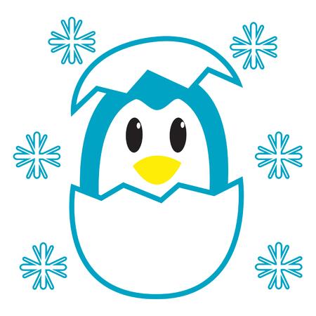 Egg Penguin Illustration