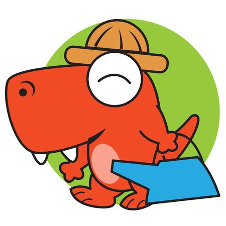 lizard in field: Jardinería dinosaurio Vectores