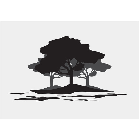 Silhouettes of forest