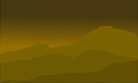 Le paysage désertique avec un beau fond brun