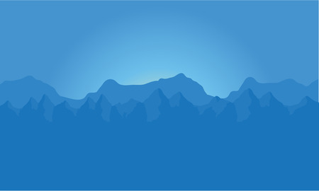 landscape of blue mountains a very beautiful