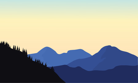 smoky mountains: Silhouette of mountain a beautiful at sunrise