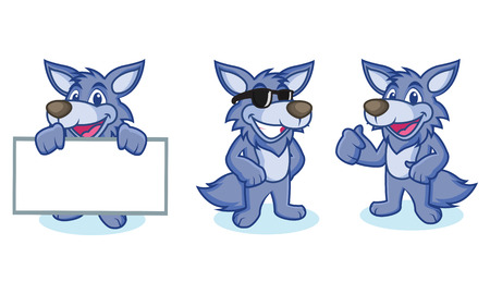 armory: Wolf Mascot Vector happy, ppose and bring board
