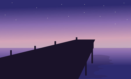 pier: illustration of pier at the night