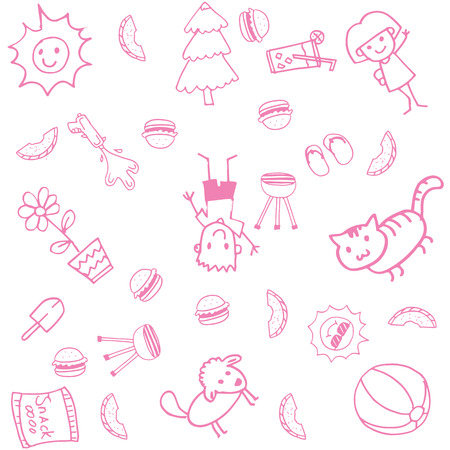 Design doodle art for kids with white bakcgrounds