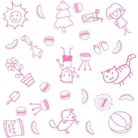 Doodle kunst voor kinderen met witte bakcgrounds Stockfoto - 56794774
