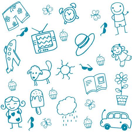 Spielzeug-Set Gekritzelkunst für Kinder Standard-Bild - 56794954