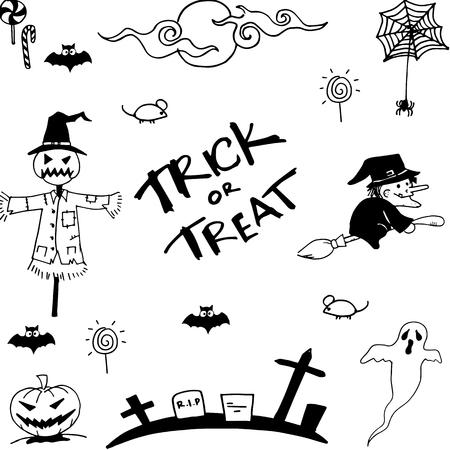 elixir: Doodle of halloween vector art hand draw