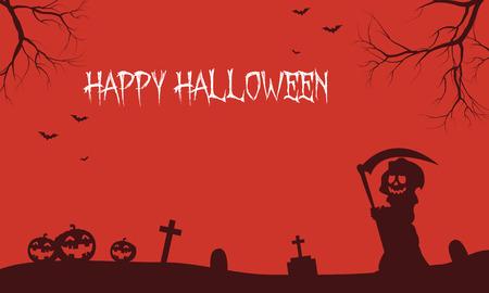 warlock: Warlock and pumpkins Halloween backgrounds scenery illustration