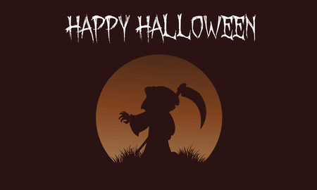 warlock: Happy Halloween warlock backgrounds vector art illustration Illustration