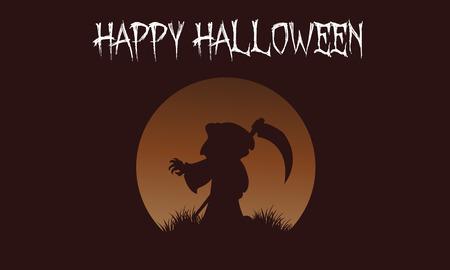 Happy Halloween warlock backgrounds vector art illustration Illustration
