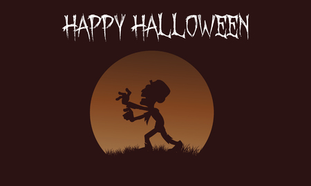 macabre: Zombie backgrounds Halloween with brown backgrounds illustration