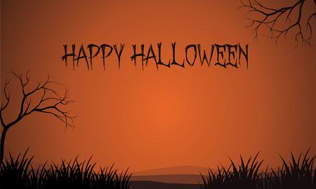brown backgrounds: Halloween brown backgrounds design vector art illustration
