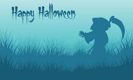 warlock: Happy Halloween warlock backgrounds silhouette vector illustration