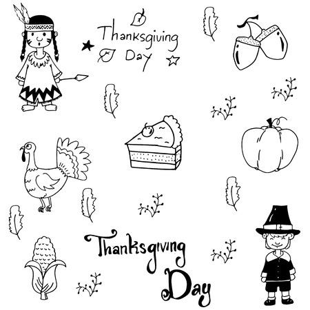 chikens: Doodle Thanksgiving element set