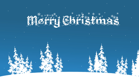 christmas backgrounds: Vector of merry christmas backgrounds on blue backgrounds Illustration