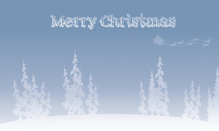 christmas backgrounds: Silhouette of santa sleigh Christmas backgrounds vector