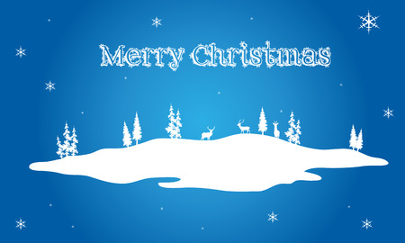 christmas backgrounds: Christmas scenery on blue backgrounds vector illustration