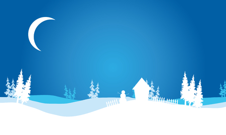 christmas backgrounds: Silhouette of Christmas hills scenery backgrounds vector