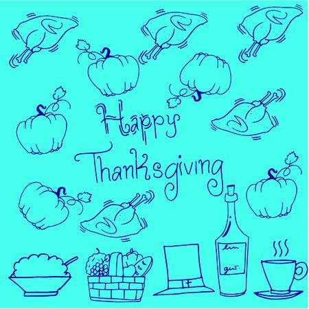 Thanksgiving doodles pumpkin chicken