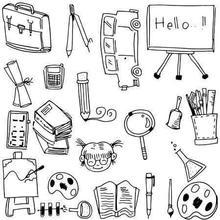 lapiz y papel: pintura papel l�piz libro de la escuela Doodle