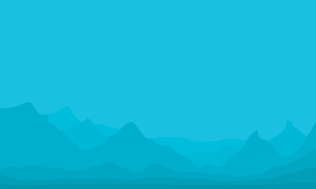 fog: Silhouette of hills in fog vector illustration