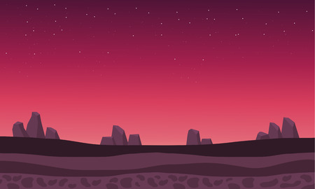 Beautiful backgrounds rock scenery at afternoon vector illustration Иллюстрация