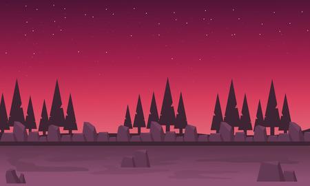 Landscape spruce tree vector illustration backgrounds game Иллюстрация