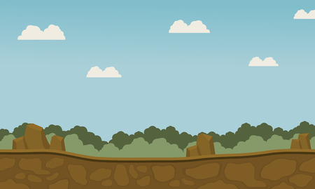 Scenery grass and beautiful sky for backgrounds game