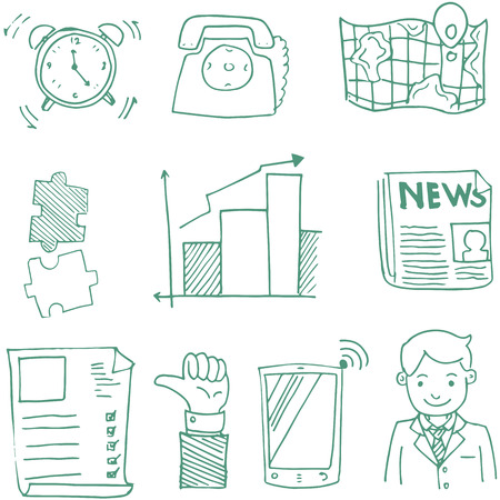 Doodle of business sketch stock collection vector art Фото со стока