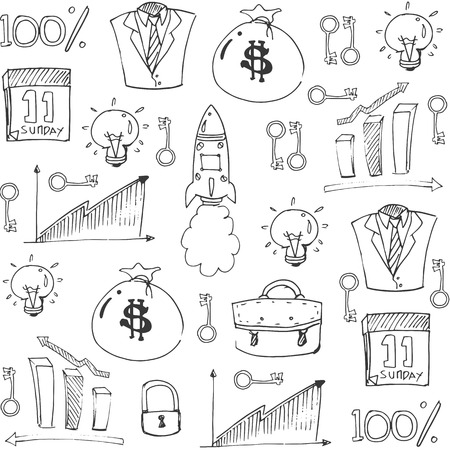 Doodle of Business hand draw vector illustration