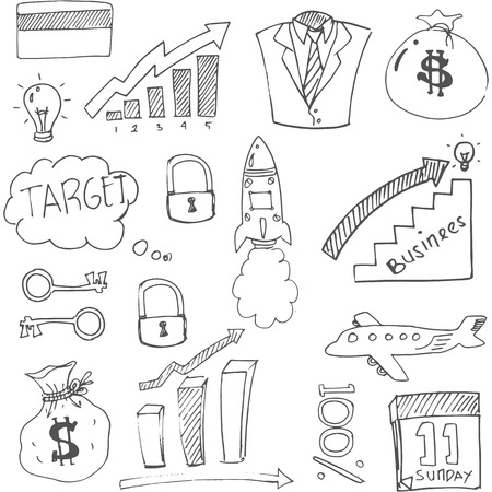 Doodle of business sketch theme