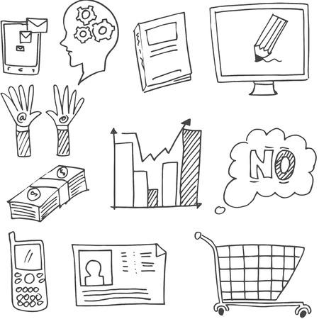 Doodle of hand draw design element business vector art