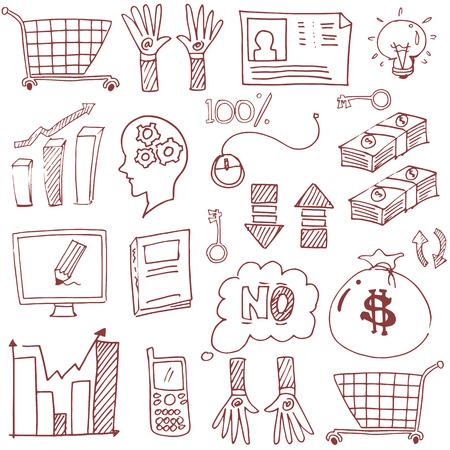 Doodle zakelijke imago van flat