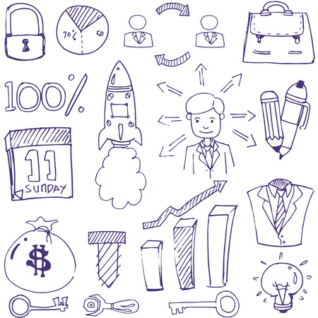Doodle of business theme vector