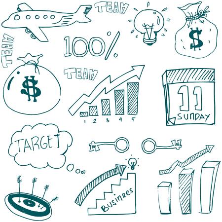 Doodle van het bedrijfsleven stock vector kunst illustratie