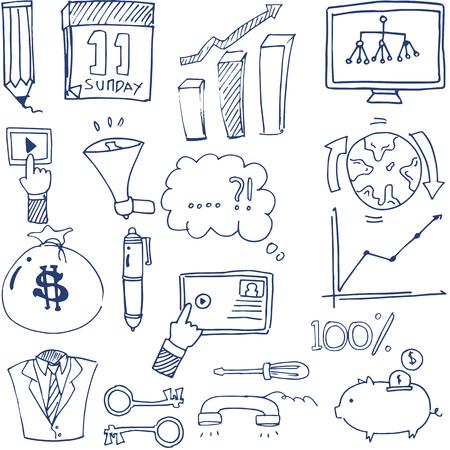 Doodle van het bedrijfsleven vector kunst Stock Illustratie